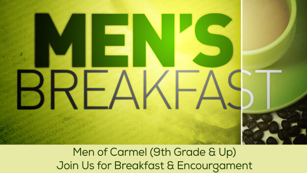 RESCHEDULED to June 17: Men's Breakfast