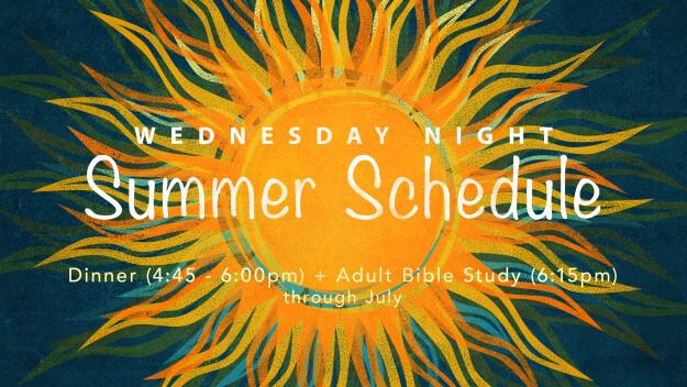 Wednesday Nights @ Carmel: Summer Schedule