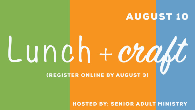 Senior Adults - Lunch/Craft with Carmel's Home Educators & Visit our Homebound