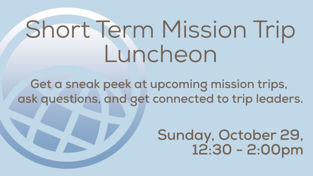Short-Term Missions Preview Lunch