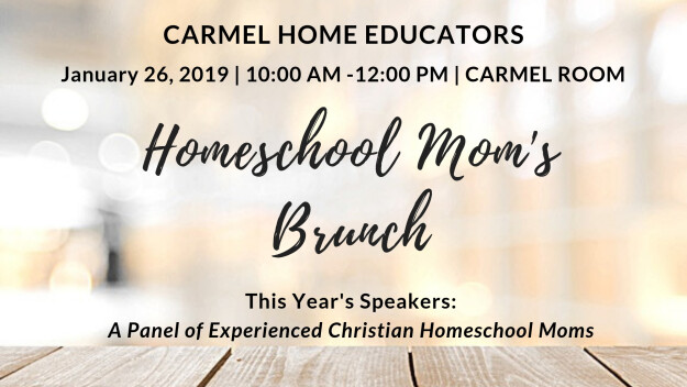 Carmel Home Educators: Homeschool Mom's Brunch